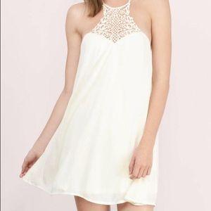 Tobi White Crochet High Neck Summer Mini Dress XS